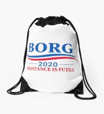 BORG 2020 - RESISTANCE IS FUTILE Drawstring Bag