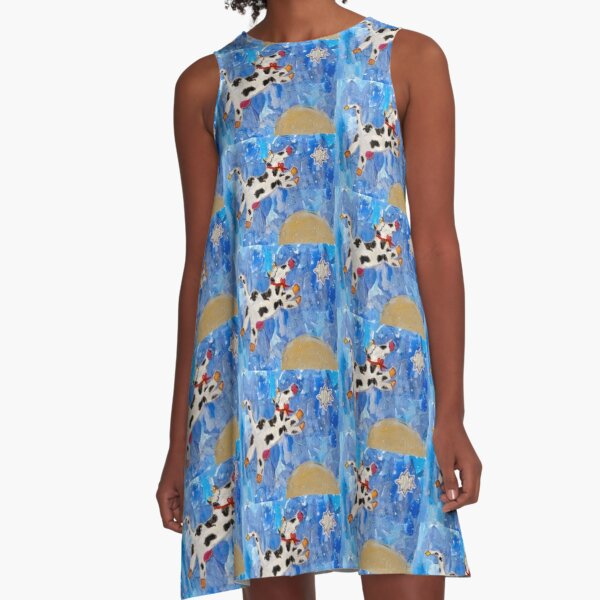 Over the Moon A-Line Dress
