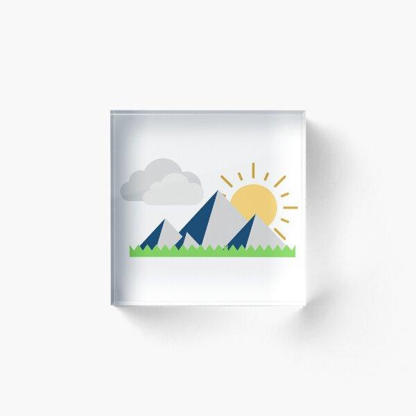 Mountain Views Acrylic Block