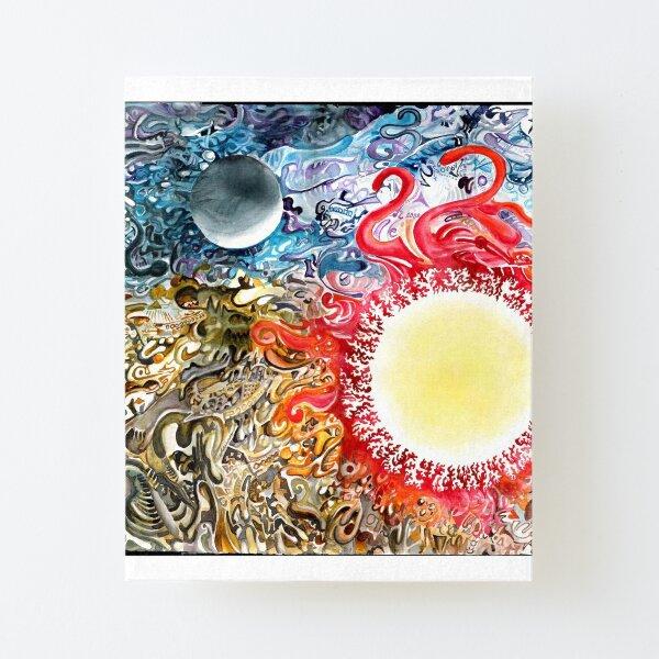 Earth Sky Heat Canvas Mounted Print