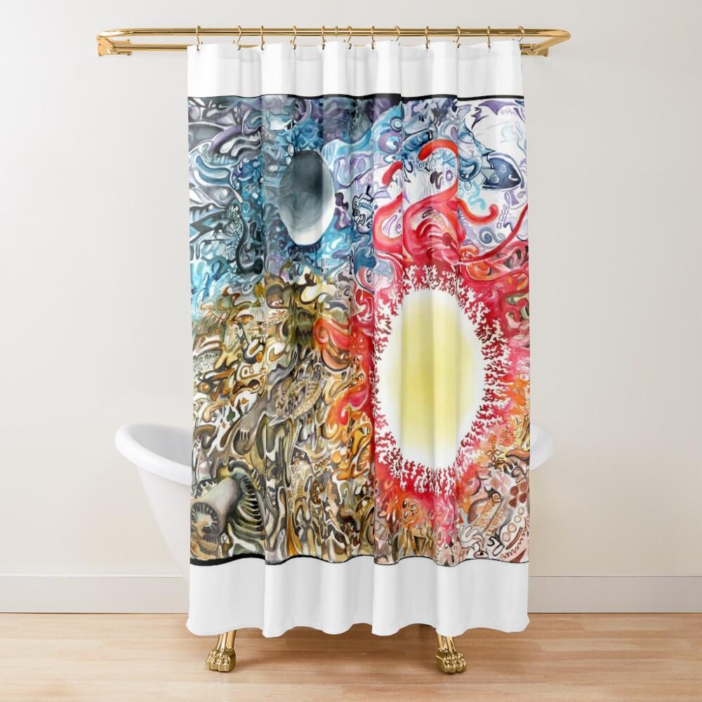 Earth Sky Heat Shower Curtain