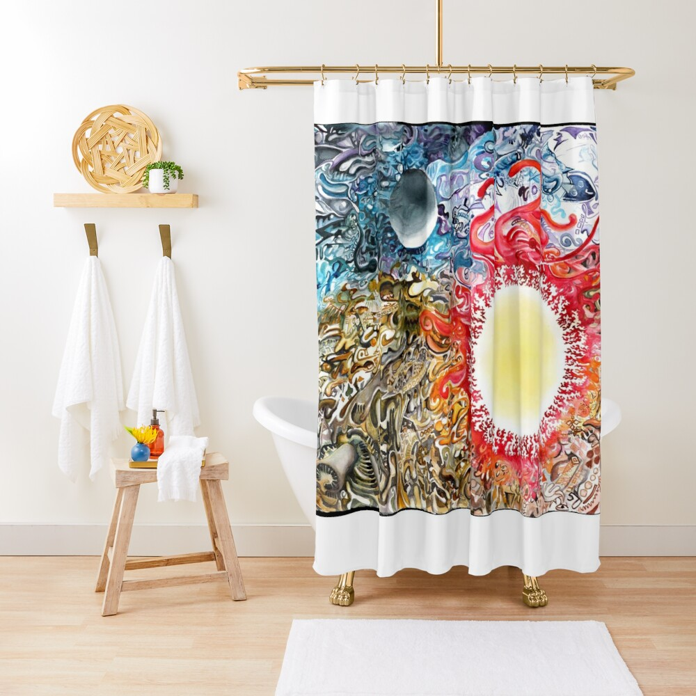 Earth Sky Heat Shower Curtain