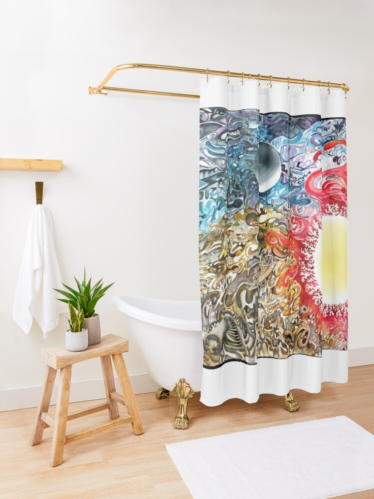 Alternate view of Earth Sky Heat Shower Curtain