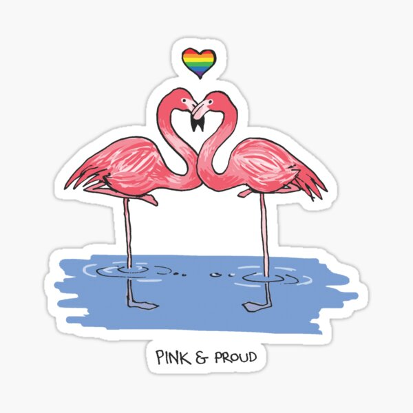 Pink and Proud - Queer Zoology Series Sticker