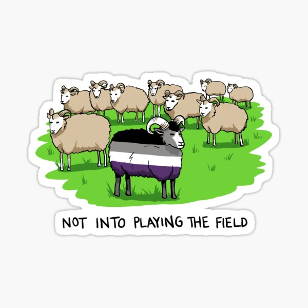 Not Into Playing the Field (Ace Pride Ram) - Queer Zoology Series Sticker