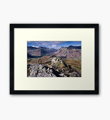 Bow Fell and the Langdale Pikes Framed Print