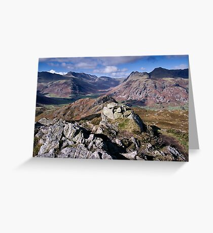 Bow Fell and the Langdale Pikes Greeting Card