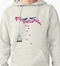 Cherry Blossom Bird Cage Pullover Hoodie