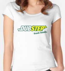 Dubstep take a bite Women's Fitted Scoop T-Shirt