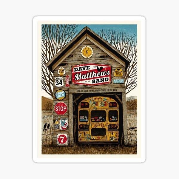 Best Poster #DMB2019 Juni 19th, 2019 Bethel Woods Center for the Arts Bethel NY_ Sticker