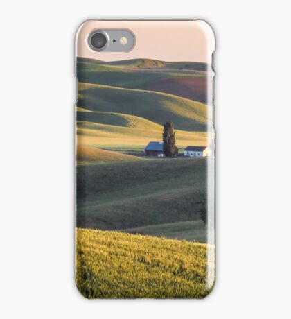 Palouse farm at sunset iPhone Case/Skin