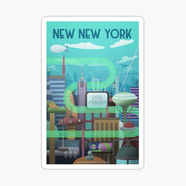 Nuevo cartel de viaje de Nueva York Pegatina
