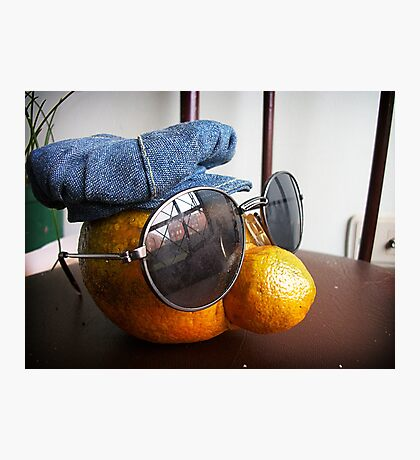 Orange Lennon Photographic Print