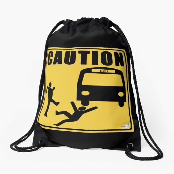 Under the Bus Drawstring Bag