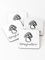 GroglioArt Mushroom Coasters