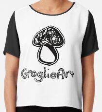 GroglioArt Mushroom Chiffon Top