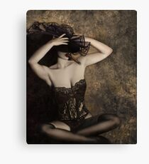Sensuality in Sepia - Self Portrait Canvas Print