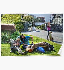 The Hawkshead Busker's Audience Poster