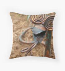 Copper-Headed Garden Greet Throw Pillow