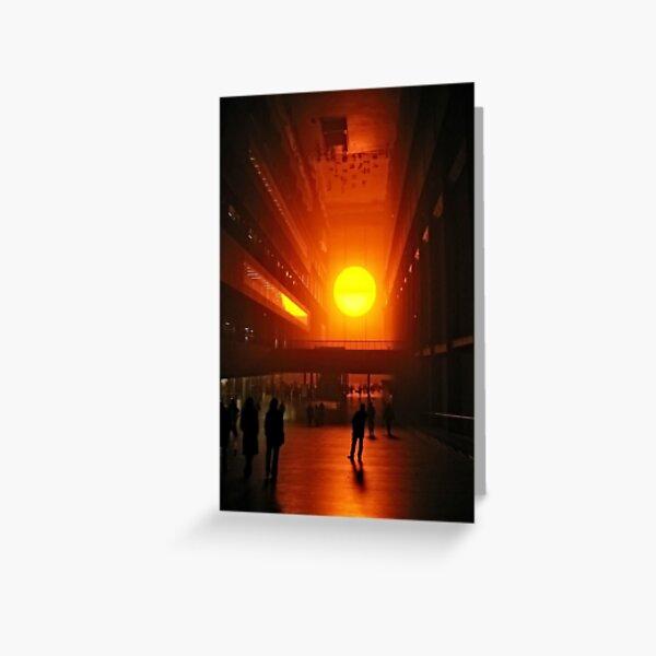 Olafur Eliasson's Setting Sun  Greeting Card