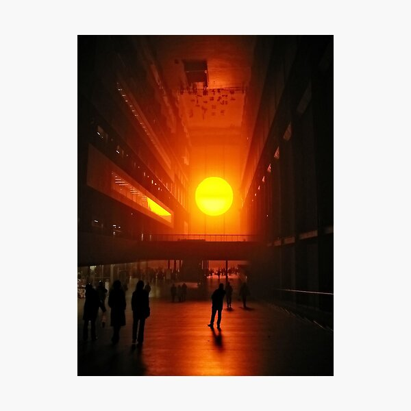 Olafur Eliasson's Setting Sun  Photographic Print