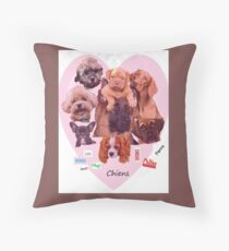 BREED OF DOGS Throw Pillow