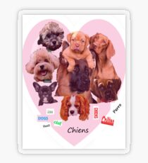 BREED OF DOGS Transparent Sticker