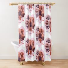 BREED OF DOGS Shower Curtain