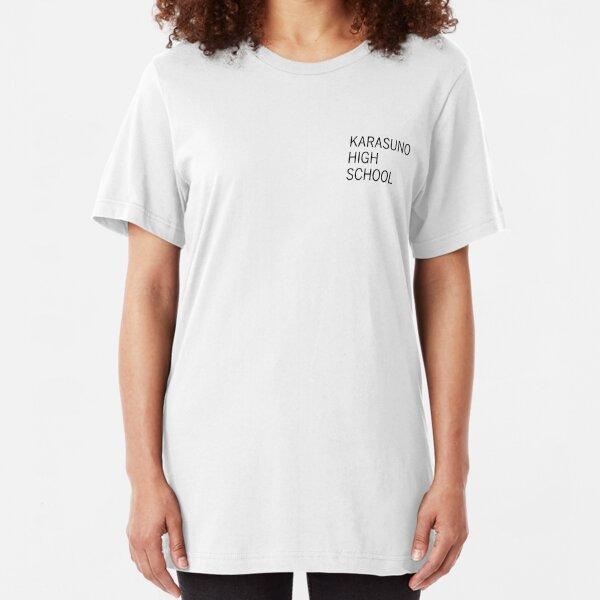 Karasuno Uniform Practice Shirt Design (Black Print) Slim Fit T-Shirt