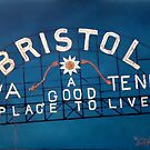 Bristol Sign Bristol VA TENN by Scott Plaster