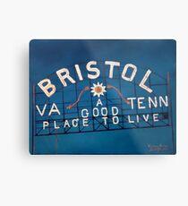 Bristol Sign Bristol VA TENN Metal Print