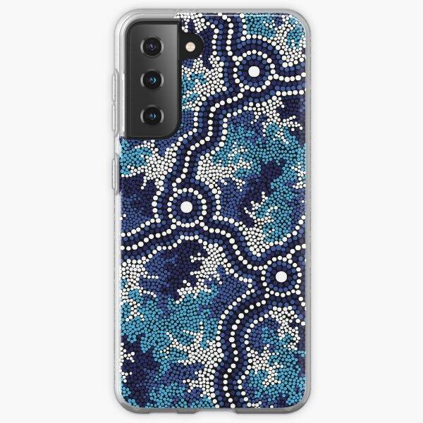 Aboriginal Art Authentic - Wetland Dreaming 2 Samsung Galaxy Soft Case