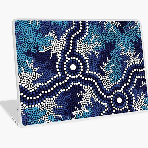Aboriginal Art Authentic - Wetland Dreaming 2 Laptop Skin