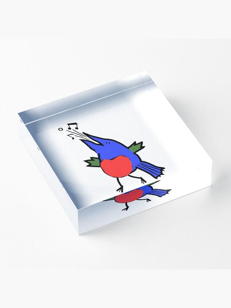 Alternate view of Abstract Musician - Singing Bird Acrylic Block
