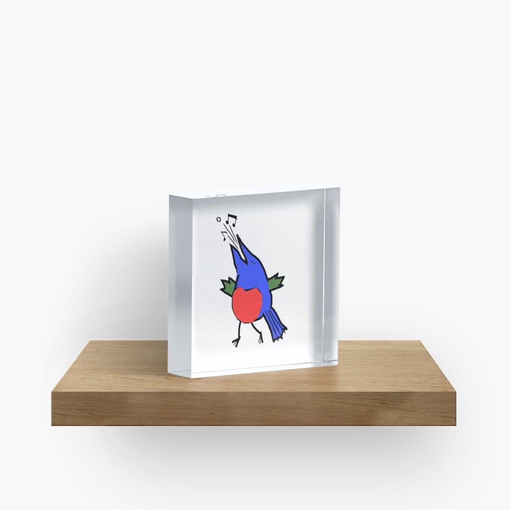 Abstract Musician - Singing Bird Acrylic Block