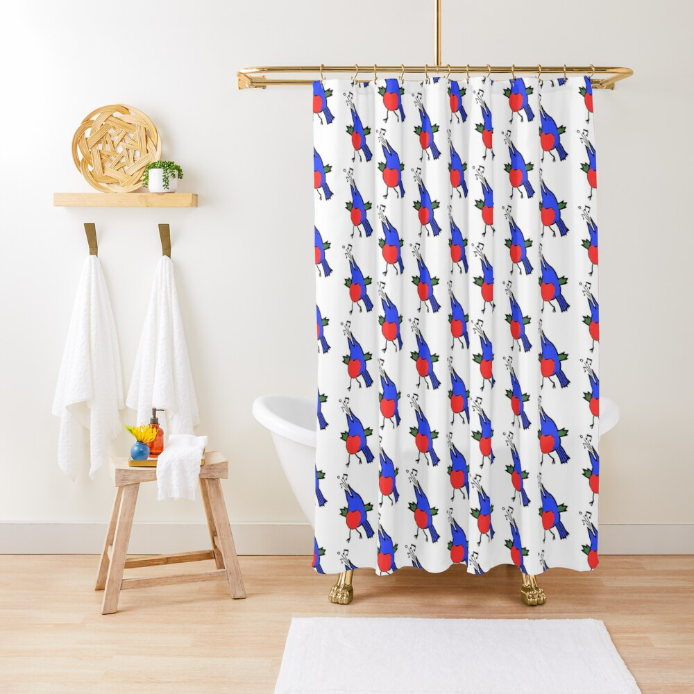 Abstract Musician - Singing Bird Shower Curtain
