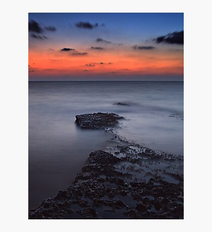 Rocky Shores Of Agios Georgios Photographic Print