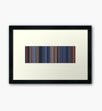 Moviebarcode: Terminator 2: Judgment Day (1991) [Simplified Colors] Framed Print