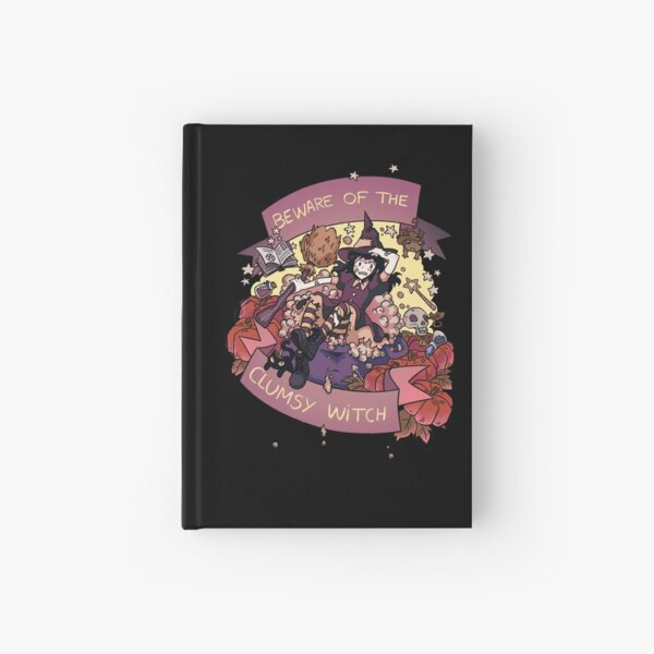 Beware of the Clumsy Witch Hardcover Journal
