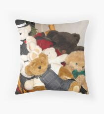 Beary Crowded Throw Pillow