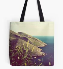 Mountains and sea of Mani in balance Tote Bag