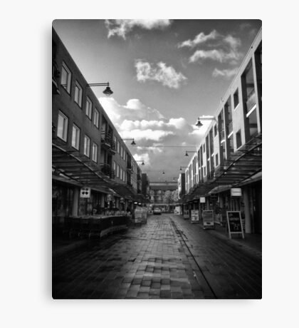 Urban: The shops have just opened Canvas Print