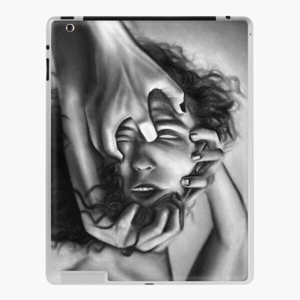 Death of an ego (Charcoal drawing) iPad Skin