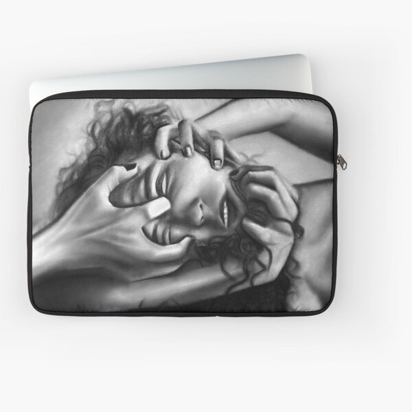 Death of an ego (Charcoal drawing) Laptop Sleeve