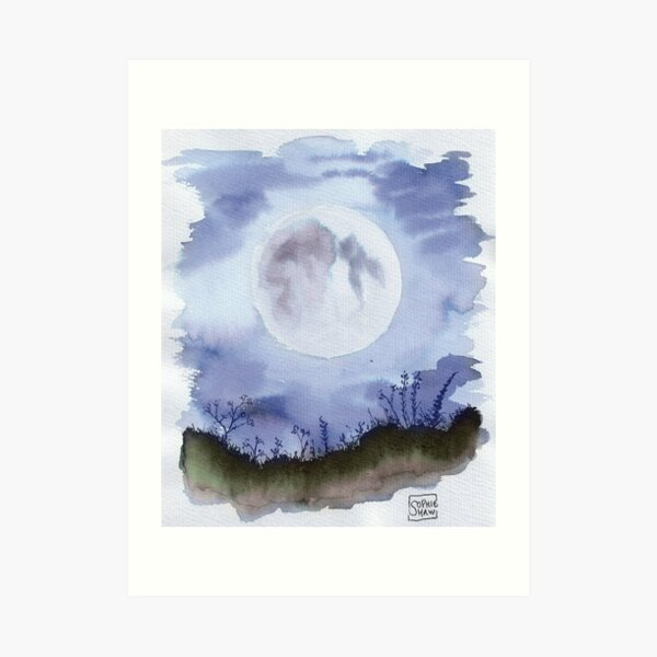 He had gone to be with the Moon at last. Art Print