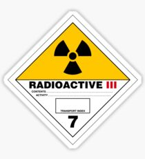 HAZMAT HAZARD RADIOACTIVE - STICKER Sticker