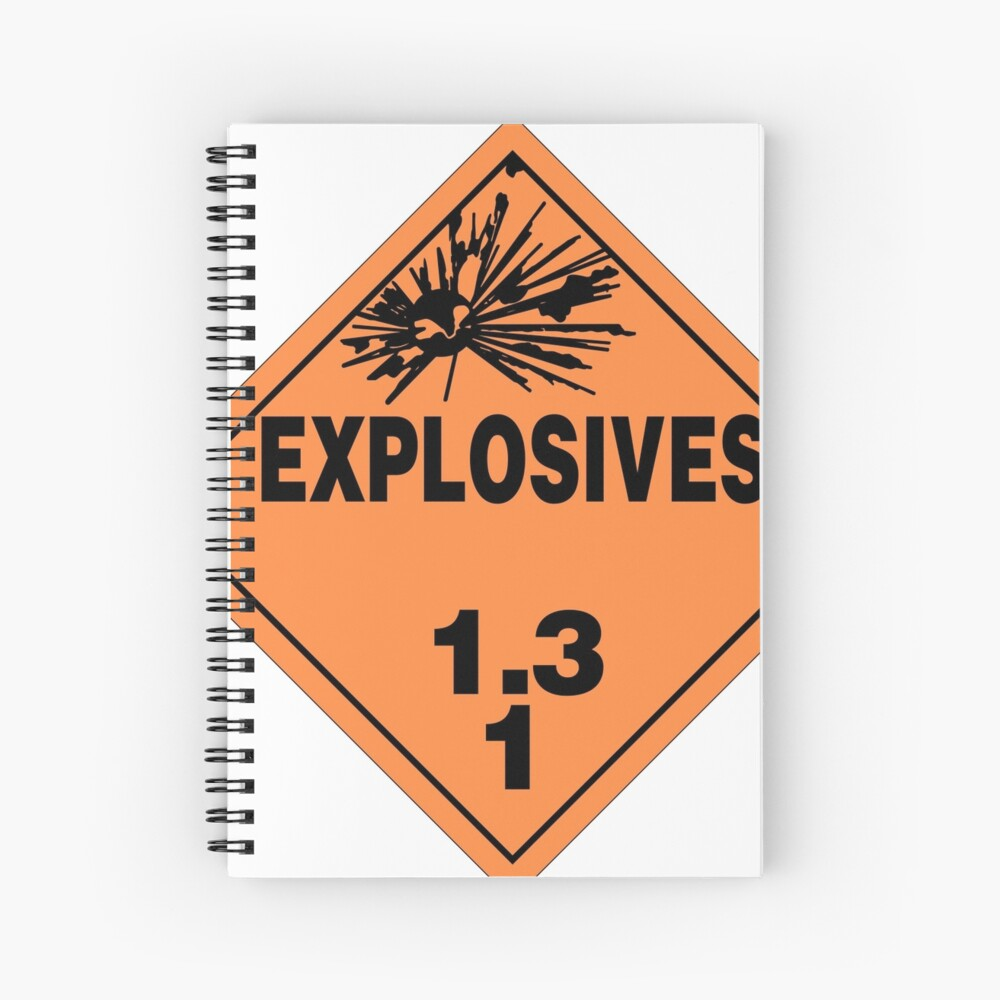 Danger Explosives  sticker
