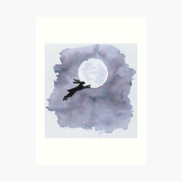 He joined her in the sky to live with her there forever after (monochrome) Art Print