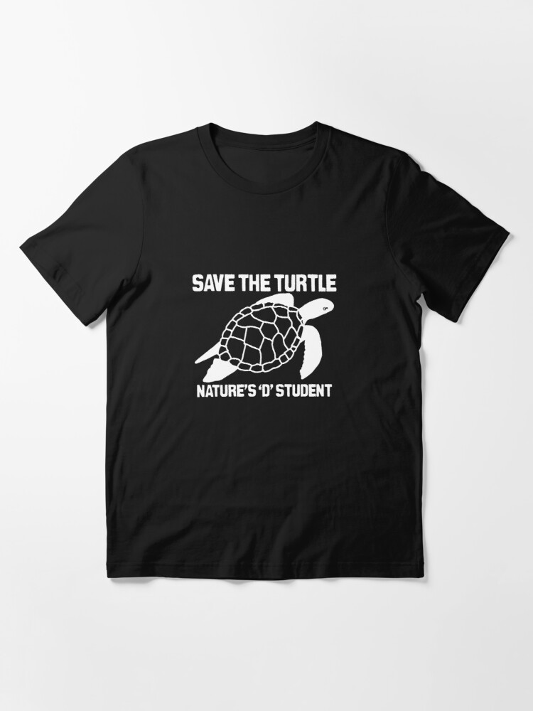 Alternate view of Save The Turtle- Nature's D Student Essential T-Shirt