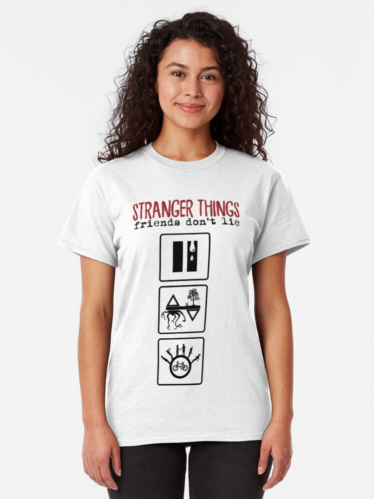 Alternate view of Stranger Things: Friends Don't Lie Classic T-Shirt